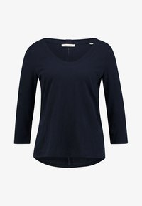 Marc O'Polo - 3/4 SLEEVE ROUNDED NECK - Long sleeved top - midnight blue - 4