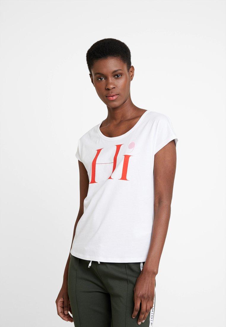 Marc O'Polo - SHORT SLEEVE ROUND NECK - T-Shirt print - whithe