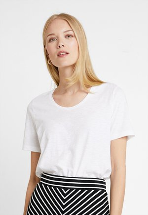 SHORT SLEEVE ROUND NECK - T-shirt basic - white