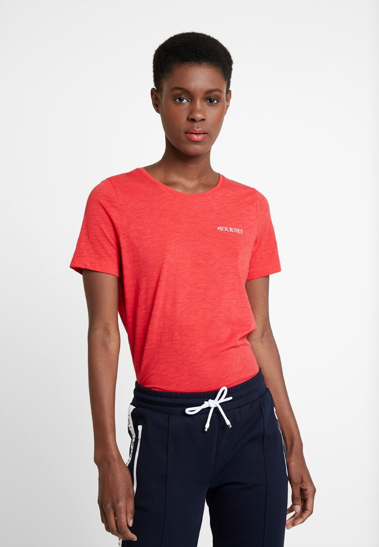 Marc O'Polo - SHORT SLEEVE ROUND NECK - T-Shirt print - fresh rose hip