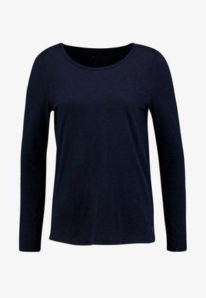 LONG SLEEVE SLIGHT A SHAPE - Bluzka z długim rękawem - midnight blue