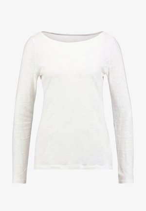 LONG SLEEVE BOAT NECK - Maglietta a manica lunga - soft white