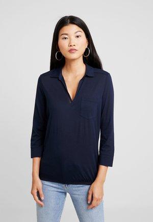 BLOUSE LONG SLEEVE CHEST  - Långärmad tröja - midnight blue