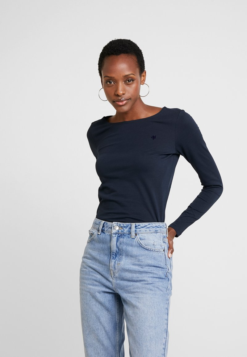 Marc O'Polo - LONG SLEEVE ROUNDNECK - T-shirt à manches longues - midnight blue