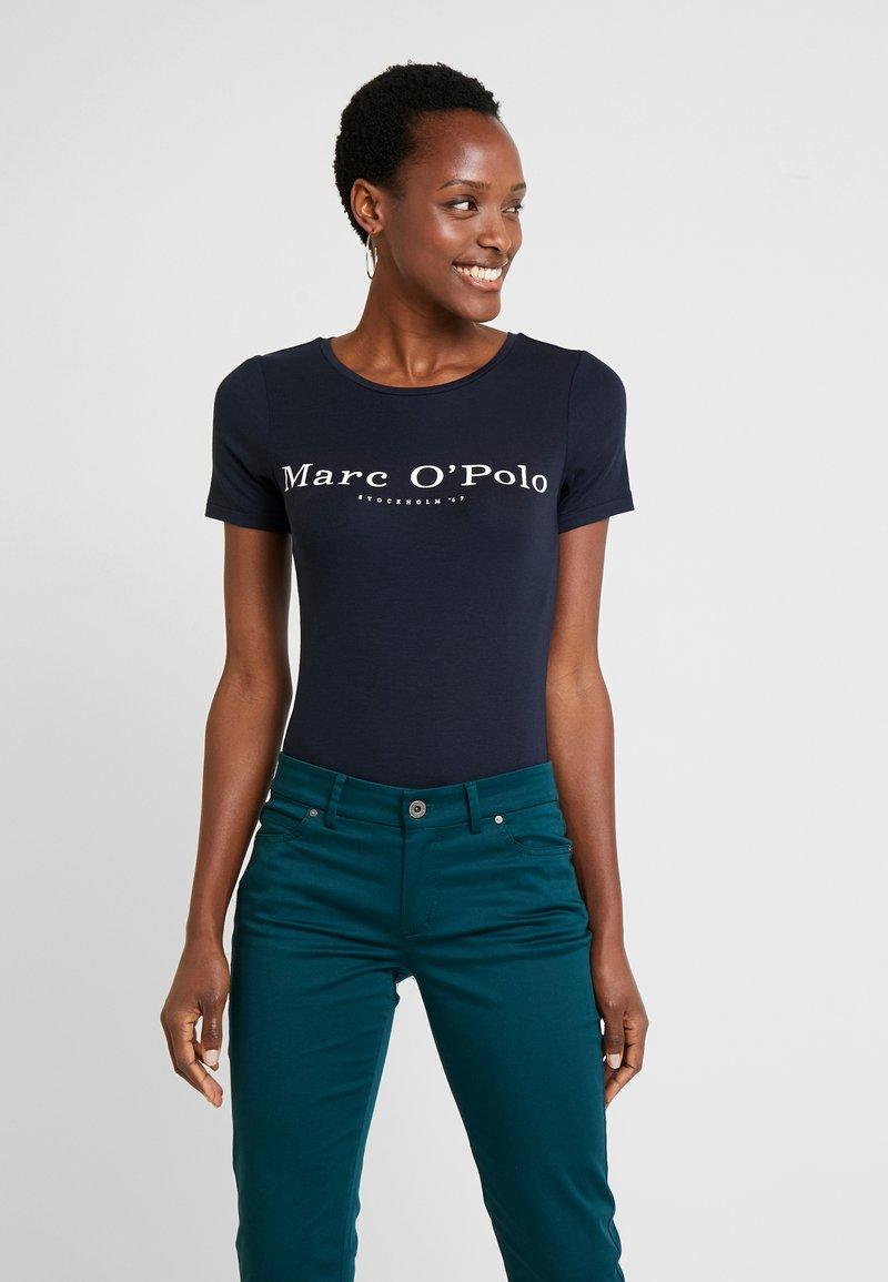Marc O'Polo - ROUND NECK - T-shirt print - midnight blue