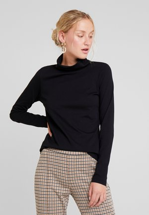 LONG SLEEVE TURTLE NECK SOLID - Topper langermet - black