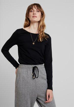 LONG SLEEVE NECK - T-shirt à manches longues - black