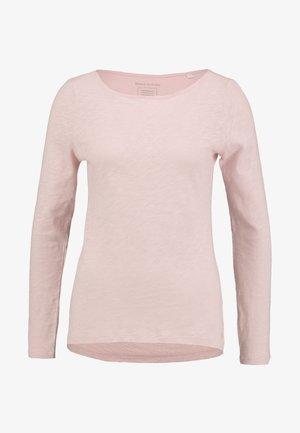 LONG SLEEVE BOAT NECK - Camiseta de manga larga - strawberry cream