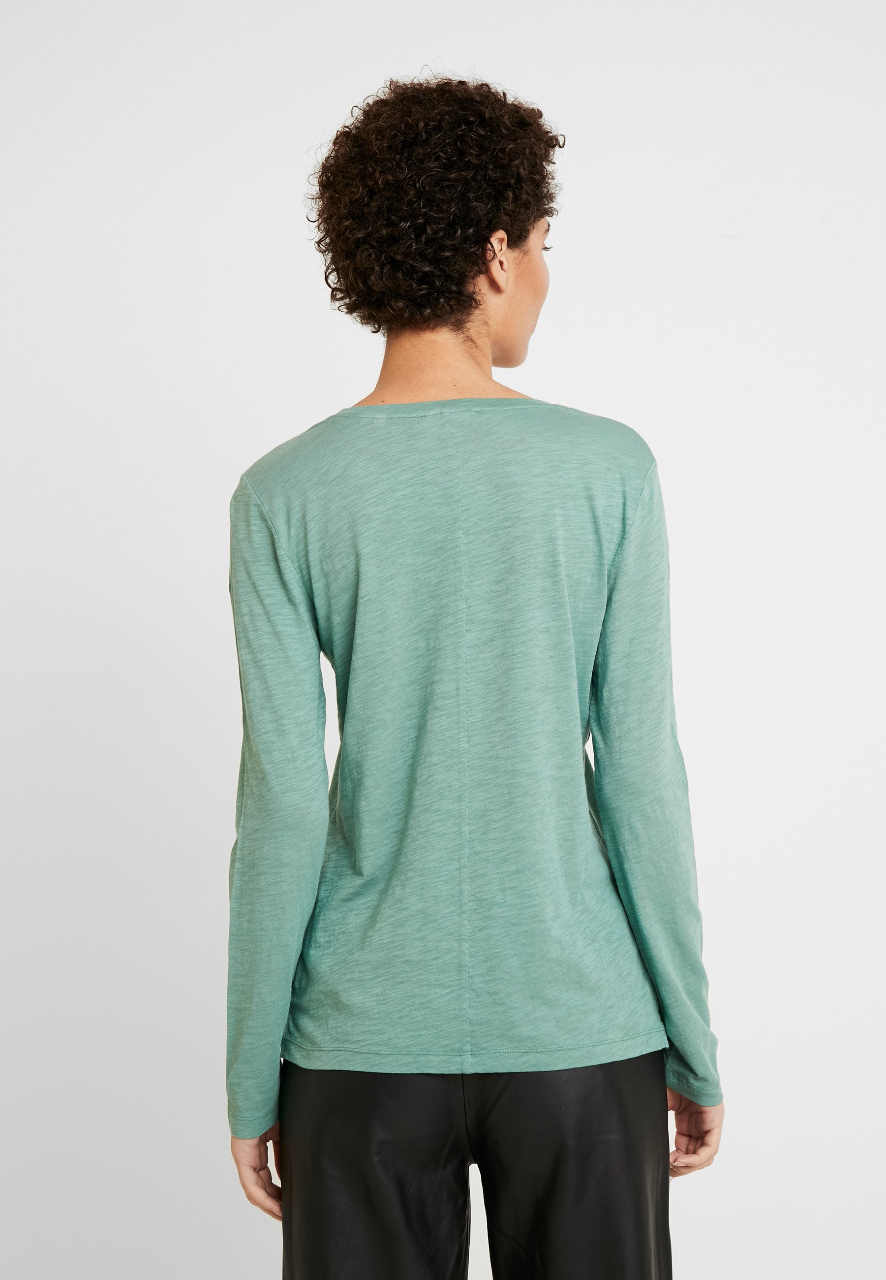 Marc O'Polo LONG SLEEVE ROUND NECK - Topper langermet - sea green