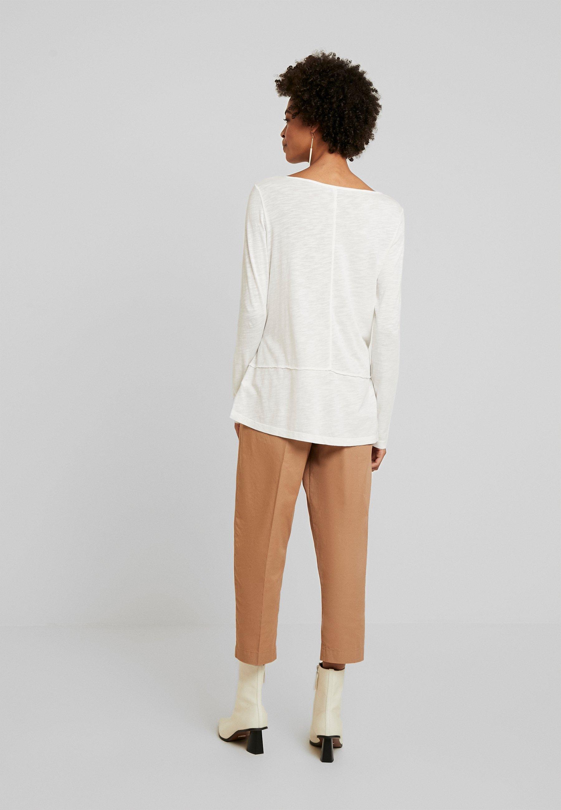 Marc O'Polo LONG SLEEVE BOATNECK - Camiseta de manga larga - soft white