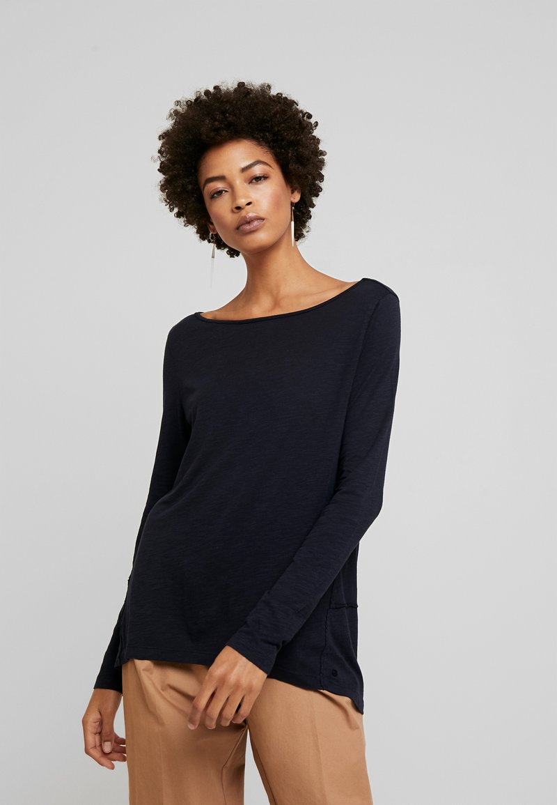 Marc O'Polo - LONG SLEEVE BOATNECK - Long sleeved top - midnight blue