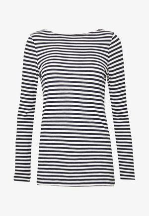 LONG SLEEVE BOAT NECK STRIPED - Camiseta de manga larga - multi/night sky