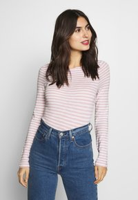 Marc O'Polo - LONG SLEEVE BOAT NECK - Long sleeved top - light pink - 0
