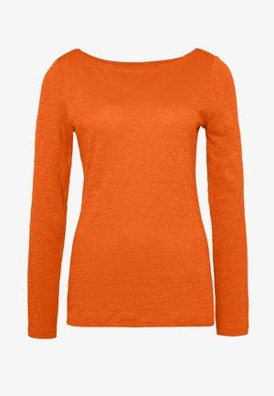 T-SHIRT, LONG SLEEVE, BOAT NECK - Långärmad tröja - fresh carrot