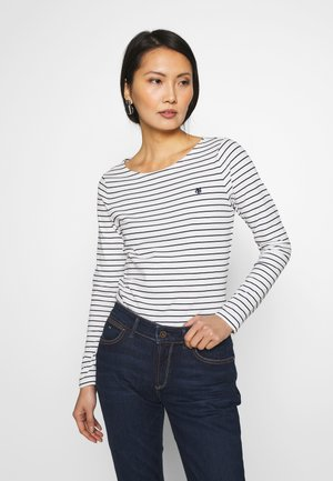 LONG SLEEVE ROUNDNECK STRIPED - Långärmad tröja - soft white