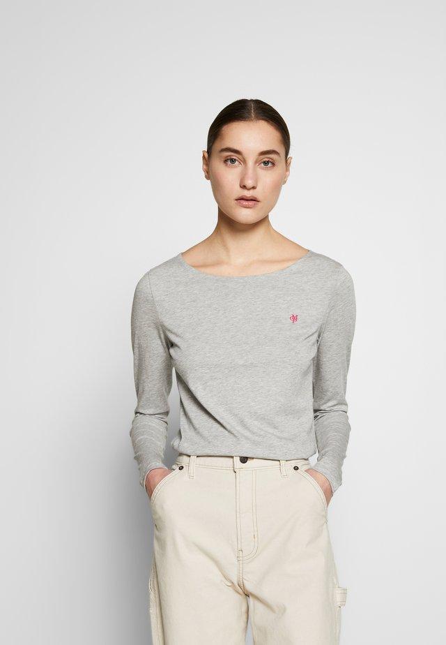 LONG SLEEVE ROUND NECK SOLID - Långärmad tröja - pebble melange