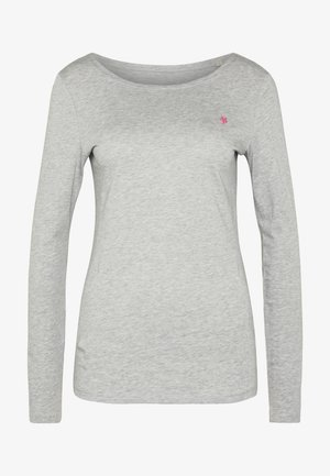 LONG SLEEVE ROUND NECK SOLID - Long sleeved top - pebble melange