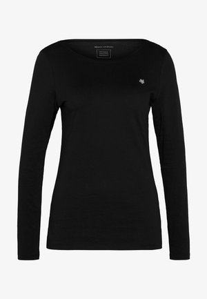 LONG SLEEVE ROUND NECK SOLID - Long sleeved top - black