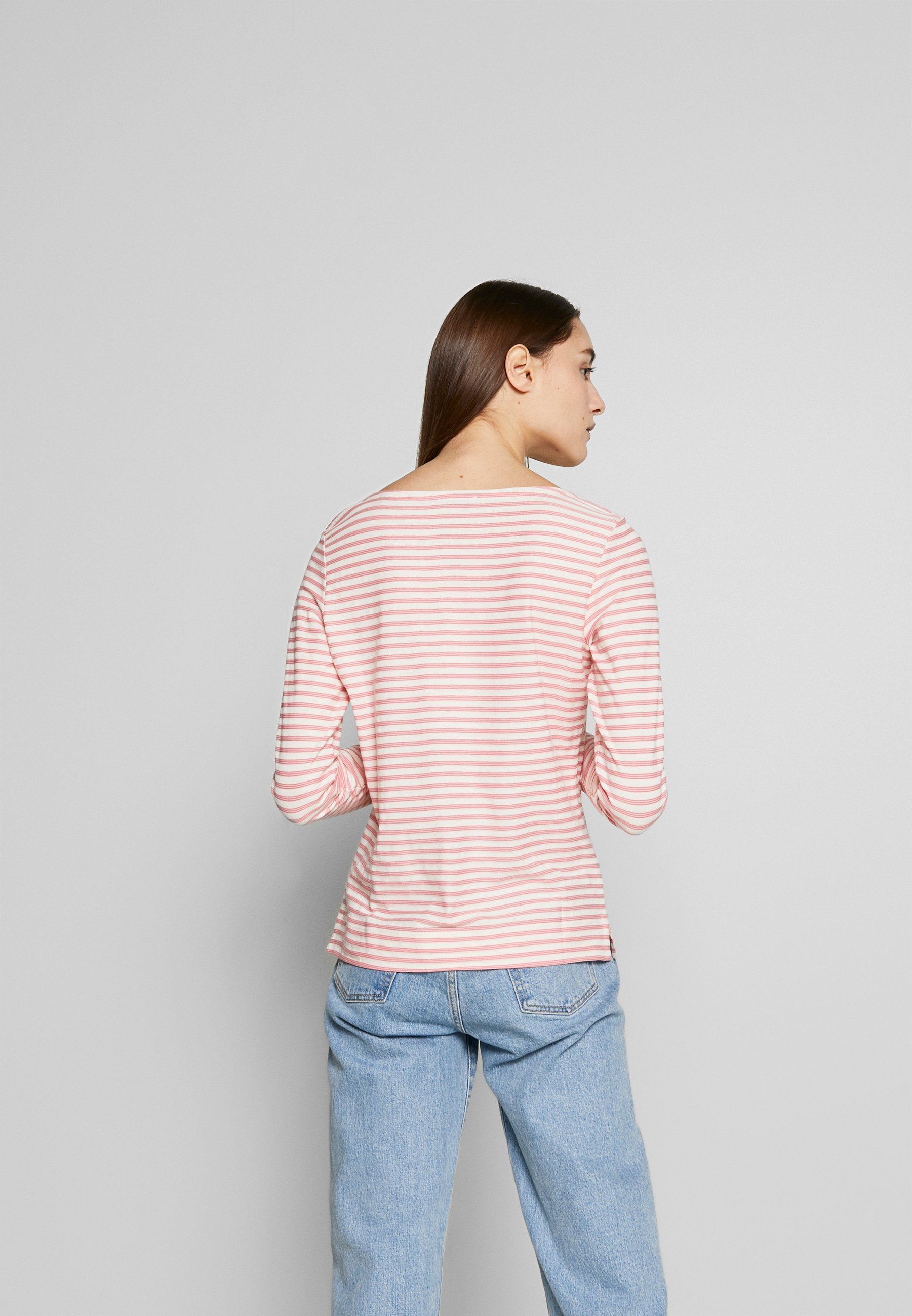 Marc O'Polo LONG SLEEVE BOAT NECK STRIPED - Topper langermet - multi/bright berry