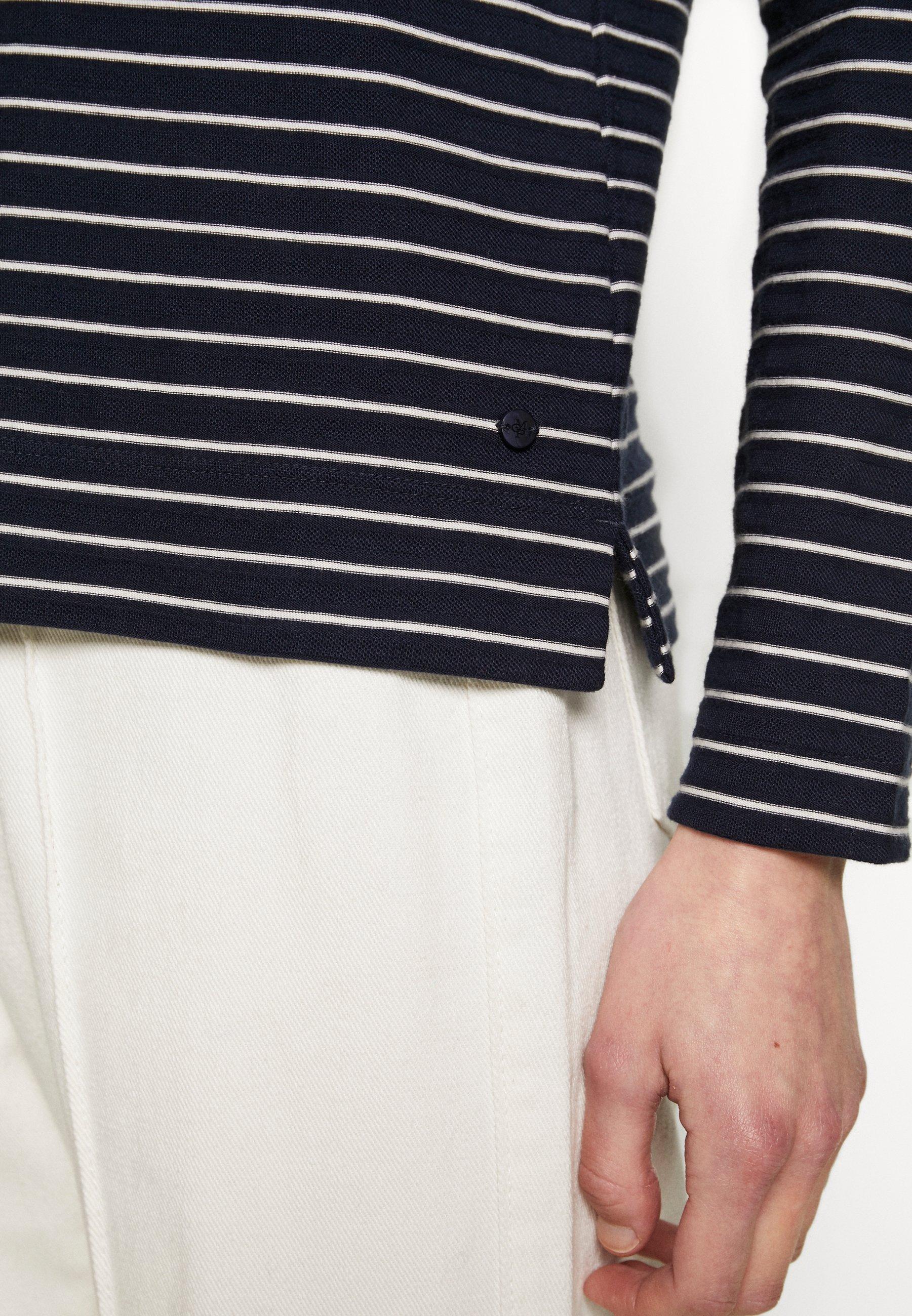 Marc O'Polo LONG SLEEVE BOAT NECK STRIPED - Bluzka z długim rękawem - multi/night sky