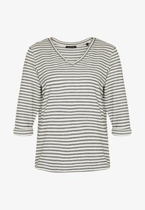 LONG SLEEVE V-NECK STRIPED - Top sdlouhým rukávem - multi/soft white