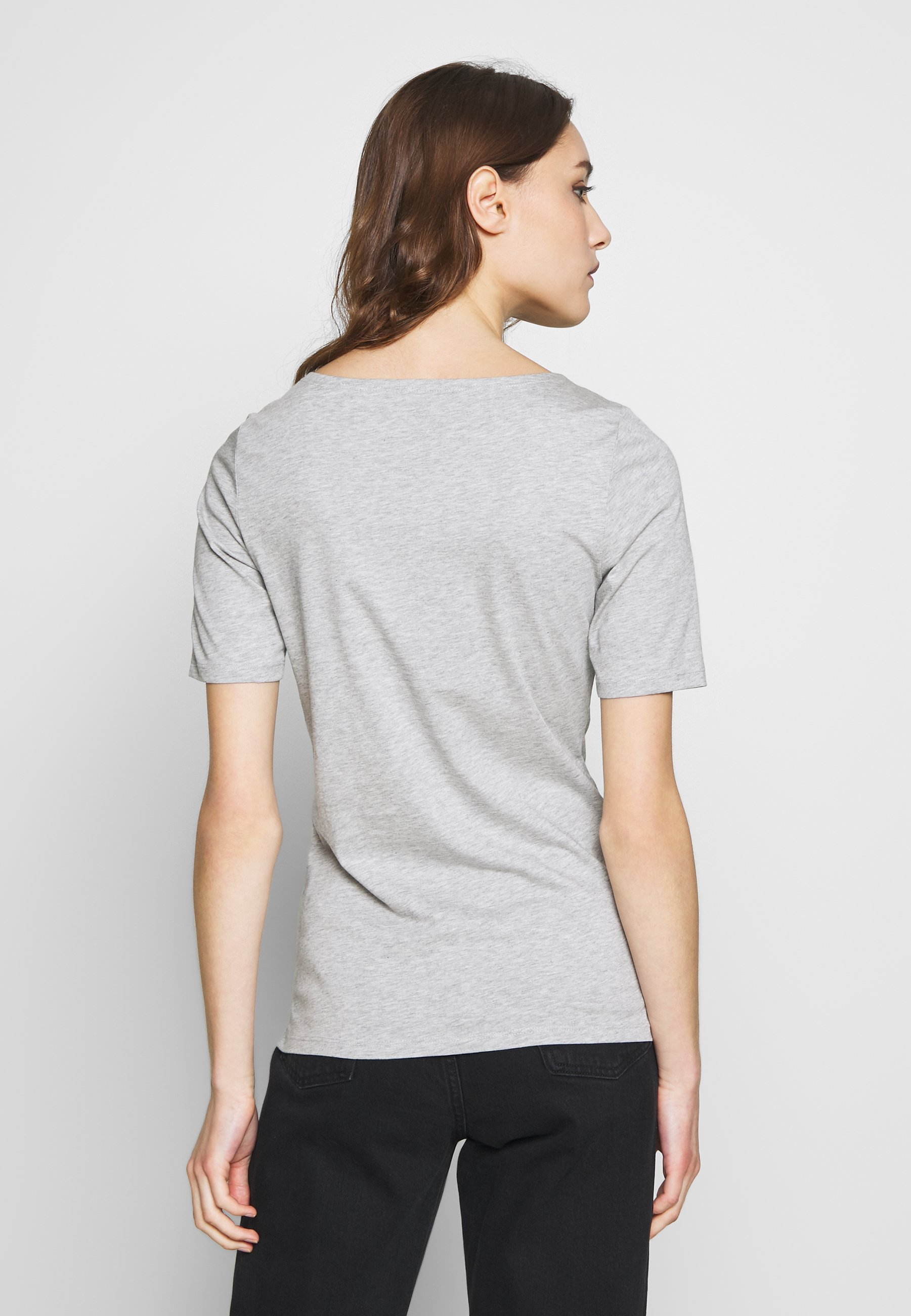 Marc O'Polo SHORT SLEEVE ROUNDNECK - T-shirts - pebble melange