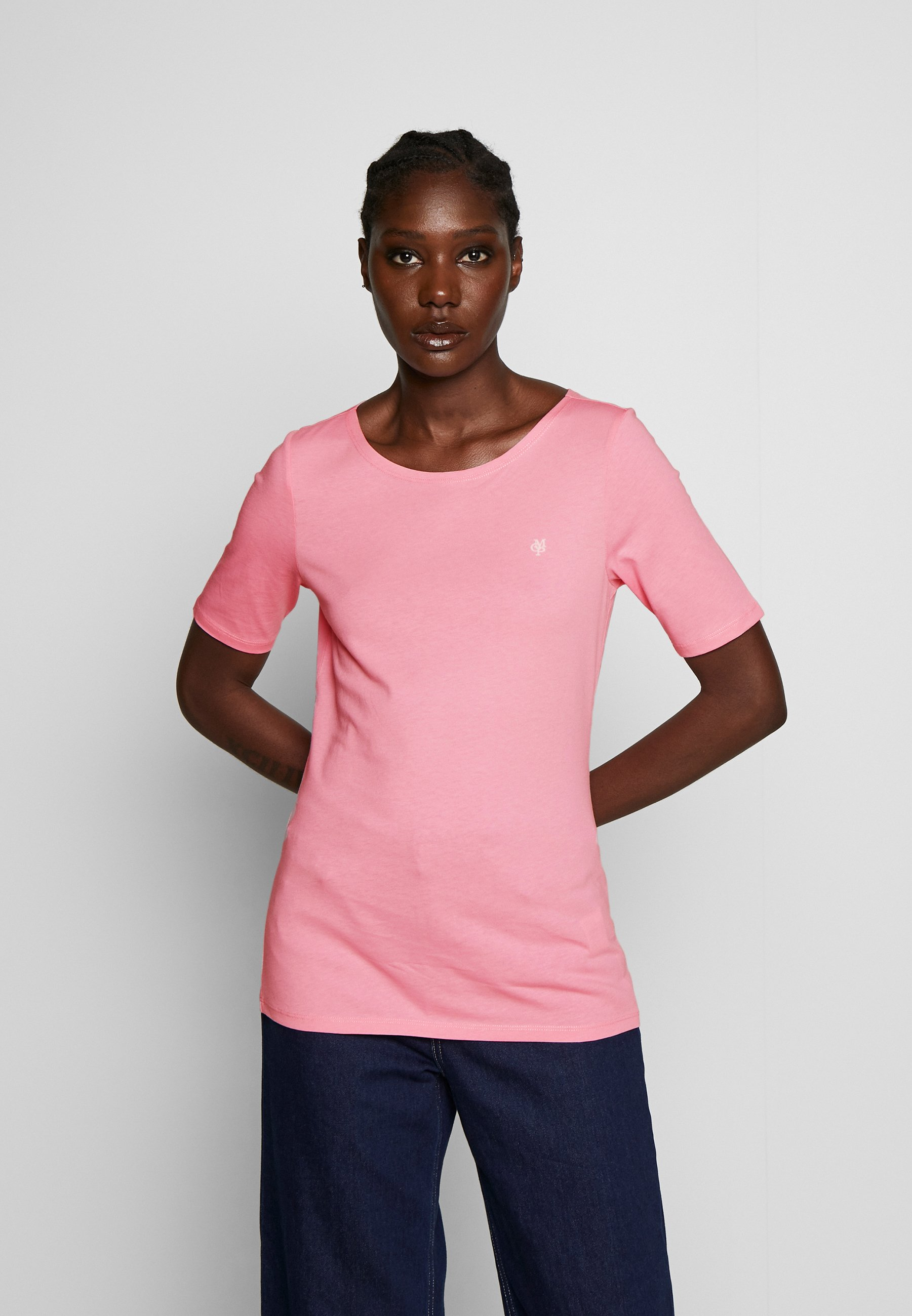 Marc O'Polo SHORT SLEEVE ROUNDNECK - T-shirts - sunlit coral