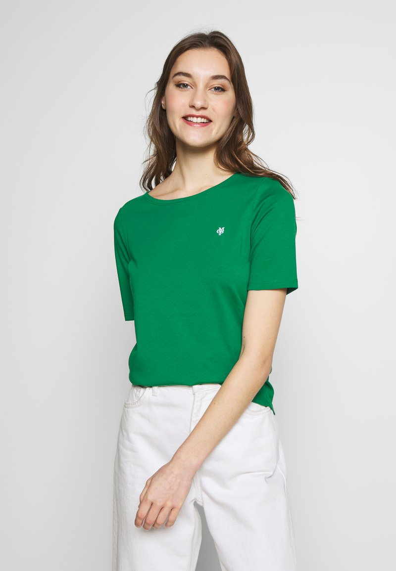 Marc O'Polo - SHORT SLEEVE ROUNDNECK - Jednoduché triko - spring forest