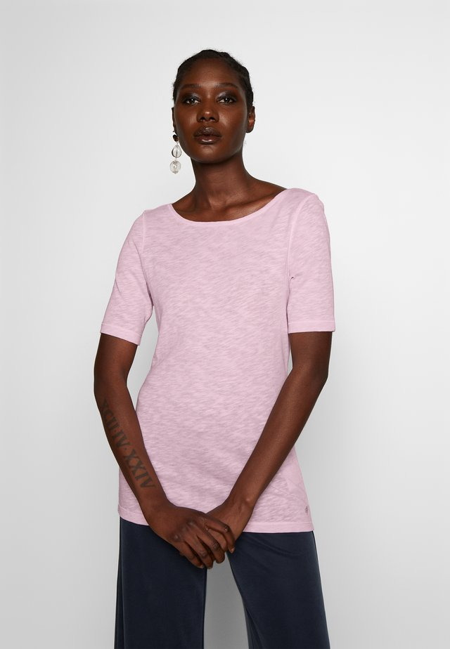 BOAT NECK - Jednoduché triko - bleached berry