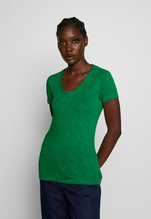 TWISTED DEEP ROUND-NECK - Basic T-shirt - spring forest