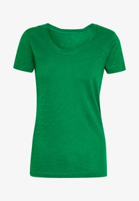Marc O'Polo - TWISTED DEEP ROUND-NECK - Jednoduché triko - spring forest - 4