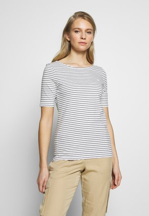 ROUND-NECK STRIPED - Print T-shirt - multi/oyster white