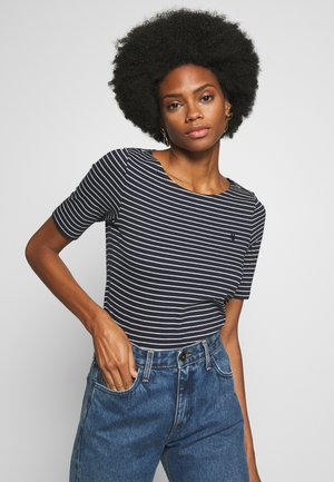 ROUND-NECK STRIPED - T-shirts med print - dark blue