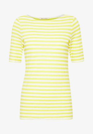SHORT SLEEVE BOAT NECK STRIPED - T-shirt print - multi/sunny lime