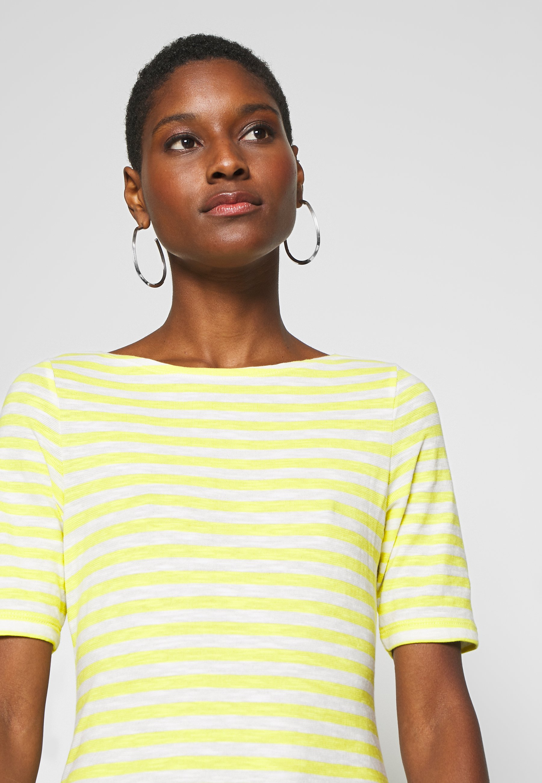 Marc O'Polo SHORT SLEEVE BOAT NECK STRIPED - T-shirts med print - multi/sunny lime
