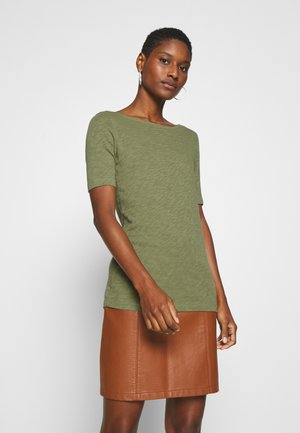 SHORT SLEEVE BOAT NECK - Jednoduché triko - seaweed green