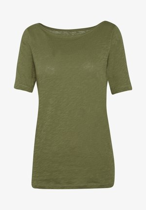 SHORT SLEEVE BOAT NECK - T-shirts - seaweed green