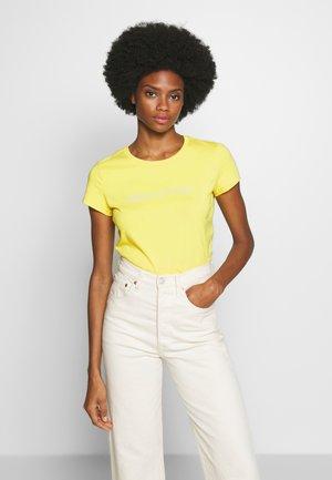 SHORT SLEEVE ROUND NECK - T-shirt imprimé - sunny lime