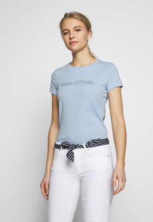 SHORT SLEEVE ROUND NECK - Triko spotiskem - light blue