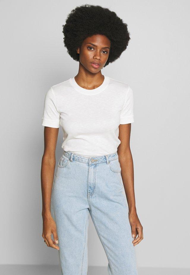 T-SHIRT, SHORT SLEEVE, ROUND NECK - T-shirt basic - oyster white