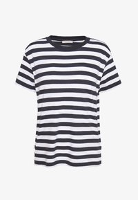 Marc O'Polo - SHORT SLEEVE ROUND NECK - Camiseta básica - multi/silent sea - 0