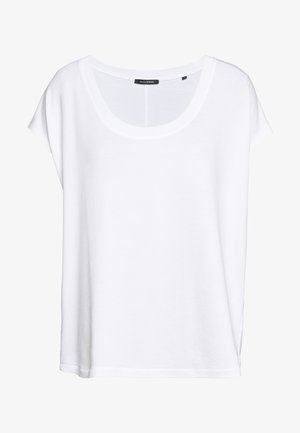 ROUND NECK ROUND HEM - T-shirt basic - white