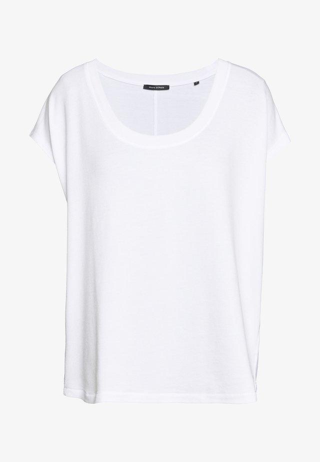 ROUND NECK ROUND HEM - Basic T-shirt - white