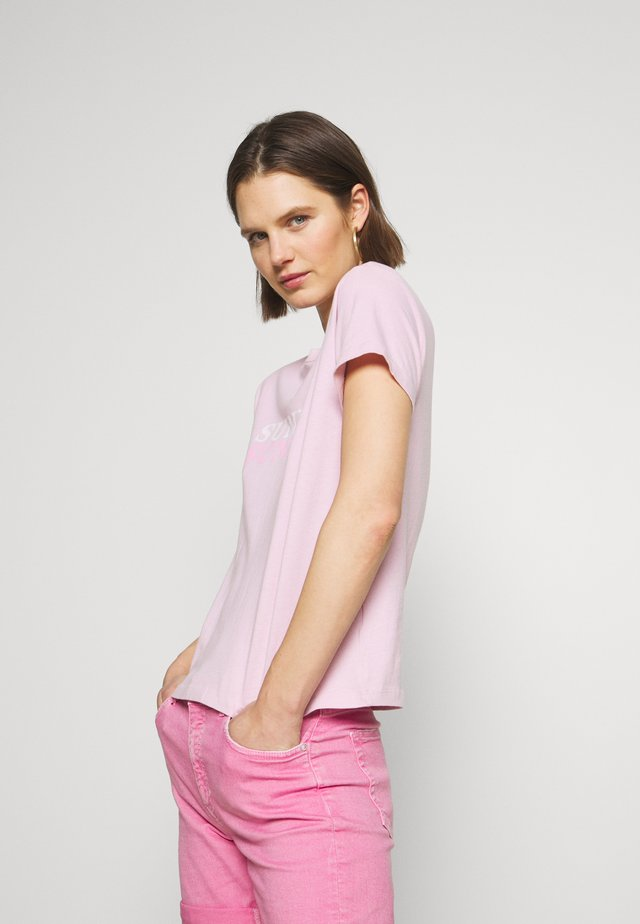 ROUND NECK - Printtipaita - bleached berry