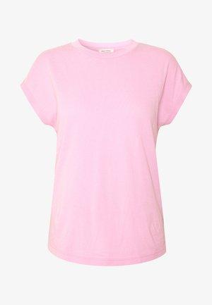 T-SHIRT, CUT-ON SLEEVE, HIGH-NECK - Basic T-shirt - bleached berry