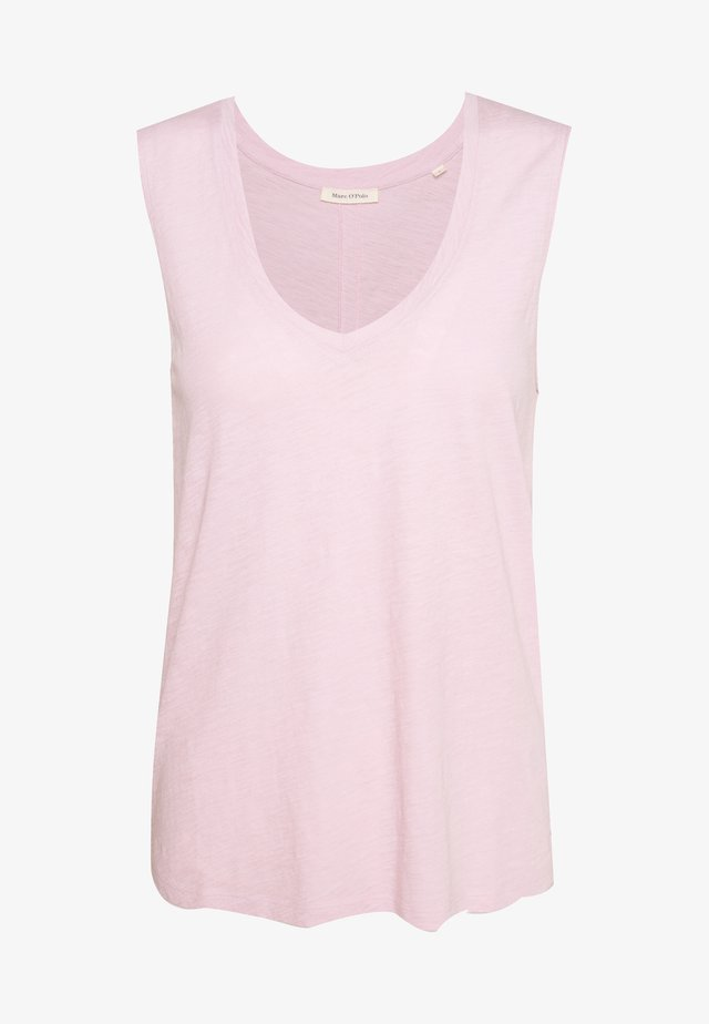 V NECK SOLID - Toppe - bleached berry
