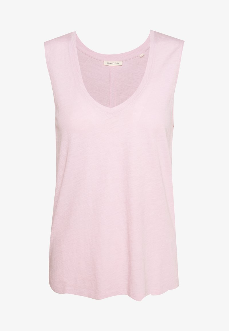 Marc O'Polo - V NECK SOLID - Top - bleached berry