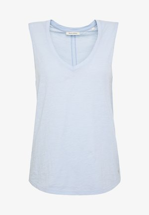 V NECK SOLID - Top - light blue