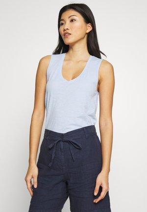 V NECK SOLID - Top - light blue