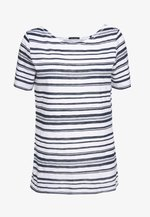 SHORT-SLEEVE BOAT-NECK STRIPED - T-shirts med print - white